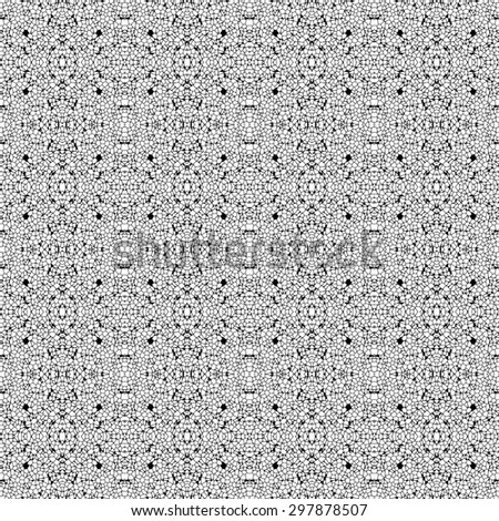 Seamless black and white (monochromatic) texture made of irregular polygons