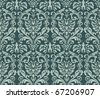 Seamless damask wallpaper background. - stock photo