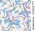 Seamless floral pattern. Raster version. Vector is also available in my gallery - stock vector