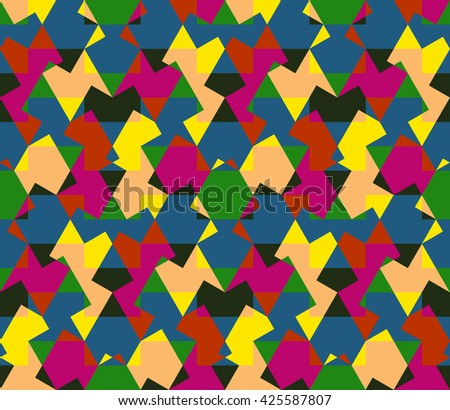 Seamless pattern abstract honeycomb mosaic