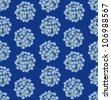 seamless pattern with blue flowers forget-me-not on dark blue background - stock photo