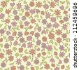 seamless pattern with brown flowers - stock photo