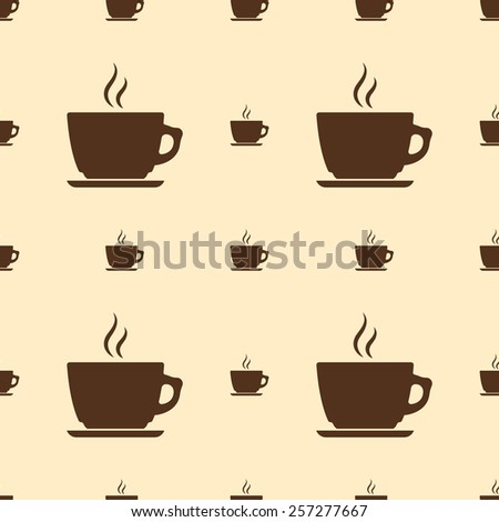 Seamless pattern with coffee cup