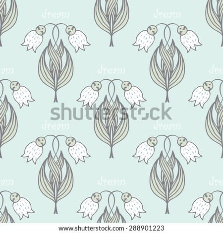 seamless pattern with many abstract dream   may-lily