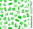 seamless pattern with shopping icons (vector available in my gallery) - stock vector