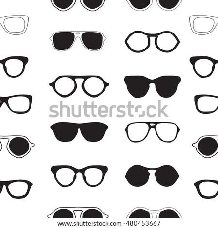 Set Eyeglasses Vector Illustration Stock Vector 393752899 ...
