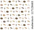 Seamless pattern with umbrellas. - stock vector