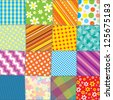 Seamless Quilt Texture. Motley Colorful Pattern for your Design - stock vector