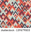 Seamless raster geometric rhombus color pattern background - stock photo
