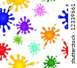 Seamless raster in any direction. Colorful splashes of ink or paint. - stock photo