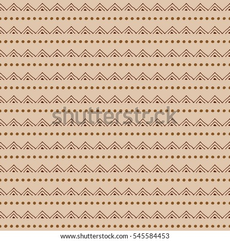 Seamless raster pattern. geometrical background with hand drawn little decorative elements.Simple design. Graphic  illustration. Template for wrapping, background, wallpaper, cover