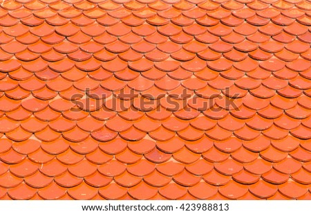 Seamless red clay roof tiles