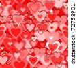 seamless red hearts pattern - stock photo