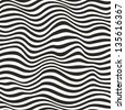 Seamless striped pattern. Black and white - stock photo