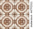Seamless tile pattern brown for backgrounds,coverage outside of buildings, high-res JPEG. - stock photo
