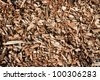 Seamless tiling wood chips background. - stock photo