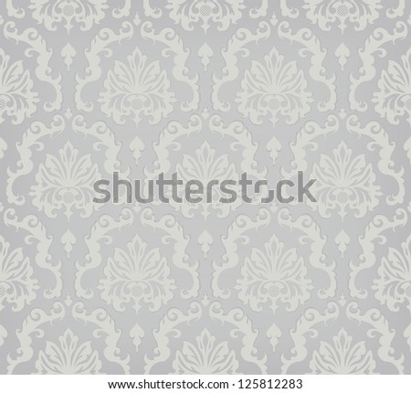Seamless Wallpaper Pattern/ The illustration of the Ornamental Background
