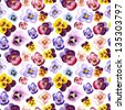 Seamless watercolor pattern with cute hearts eases - stock vector