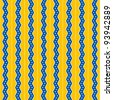 Seamless Yellow & Blue Zig Zag Stripes Background - stock photo