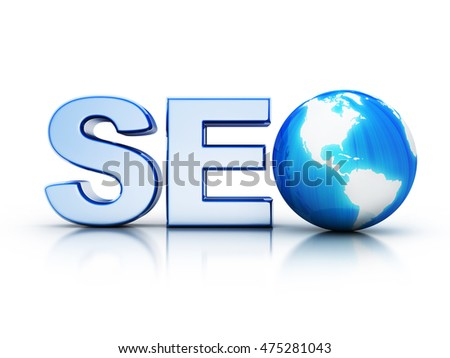 Search engine optimization symbol (done in 3d rendering)