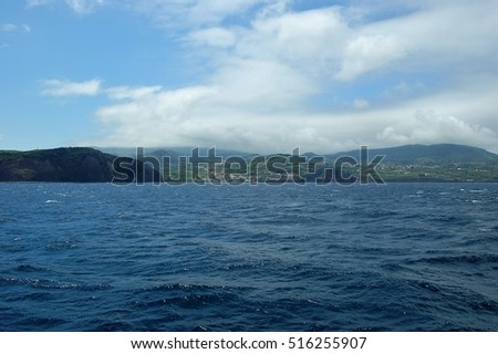 Seascapes of the island of Faial, Azores, Portugal