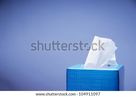 Seasonal Congestion Background with Tissue Box