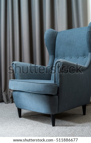 seat with with curtains