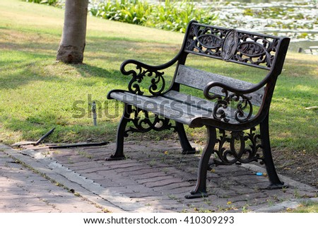 Seats in the garden
