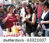 SEATTLE - 17 MAY  -   Crowds sample the food at the University District Street Fair on May 17, 2009, in Seattle. - stock photo