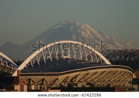 Seattle Skyline with Mt. Rainier in Background
