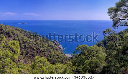 Secluded bay in the Turkish Mediterranean, Turkey, Europe