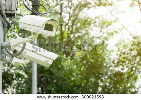 Security Camera or CCTV in park