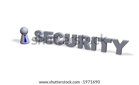 security text in 3d