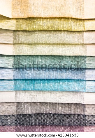Selection of colourful fabrics