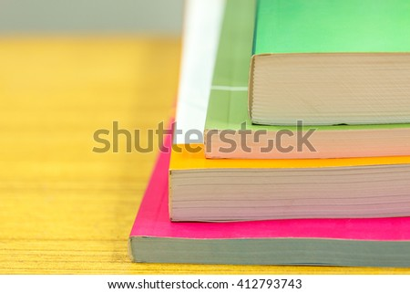 Selective focus of books