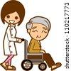 Senior caregivers - stock vector