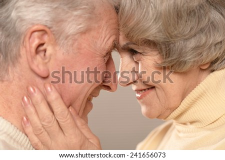 Senior couple at home