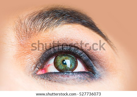Colorful Eye Extreme Closeup Stock Photo 103268738 ...