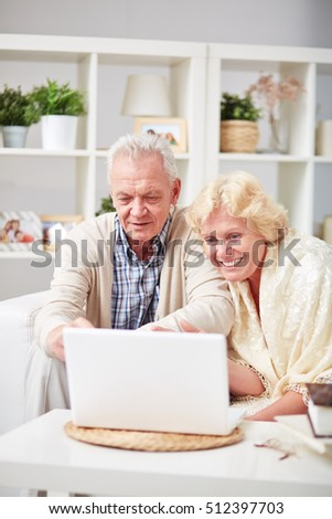 Seniors online at computer