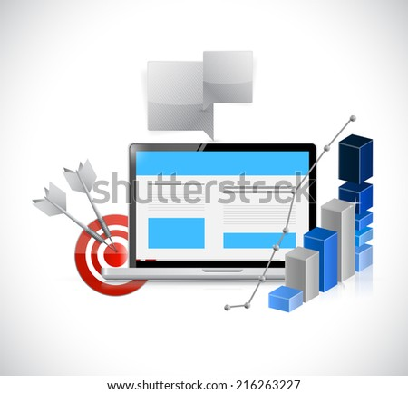seo concept illustration design over a white background