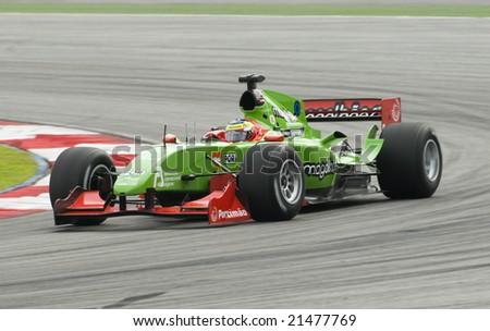 SEPANG, MALAYSIA - NOVEMBER 23 : A1 driver Filipe Albuquerque of A1 Team Portugal in action at A1GP World Cup of Motorsport in Sepang, Malaysia November 23, 2008.