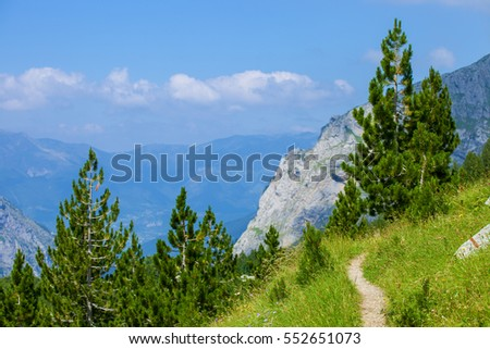 Serene View of Landscape in Prokletije Mountains, Montenegro