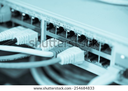 Server Internet Connected with LAN cables.