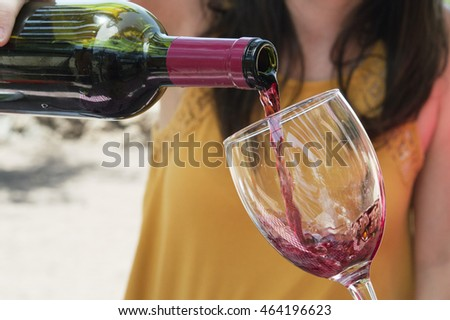 Serving a glass of wine