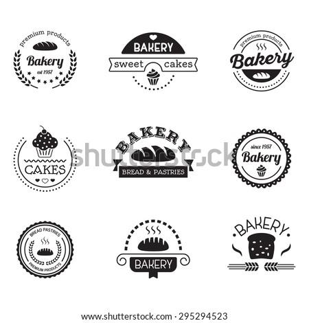 Vector Vintage Fast Food Logo Set Stock Vector 249196246