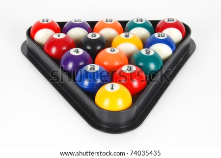 how to set up pool balls in a triangle