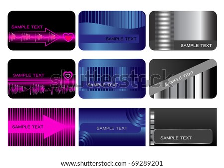 Set of Business cards. Gift cards. The similar image in my portfolio in vector format.