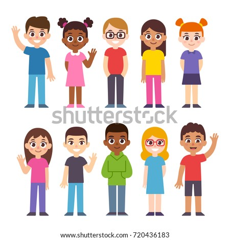 diverse group people students workplace cute stock vector