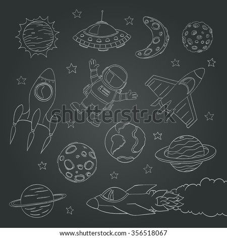 Ufo doodle stock illustration 405286582 shutterstock for Outer space elements