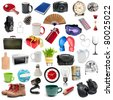 set of different  isolatad objects on a white background - stock photo